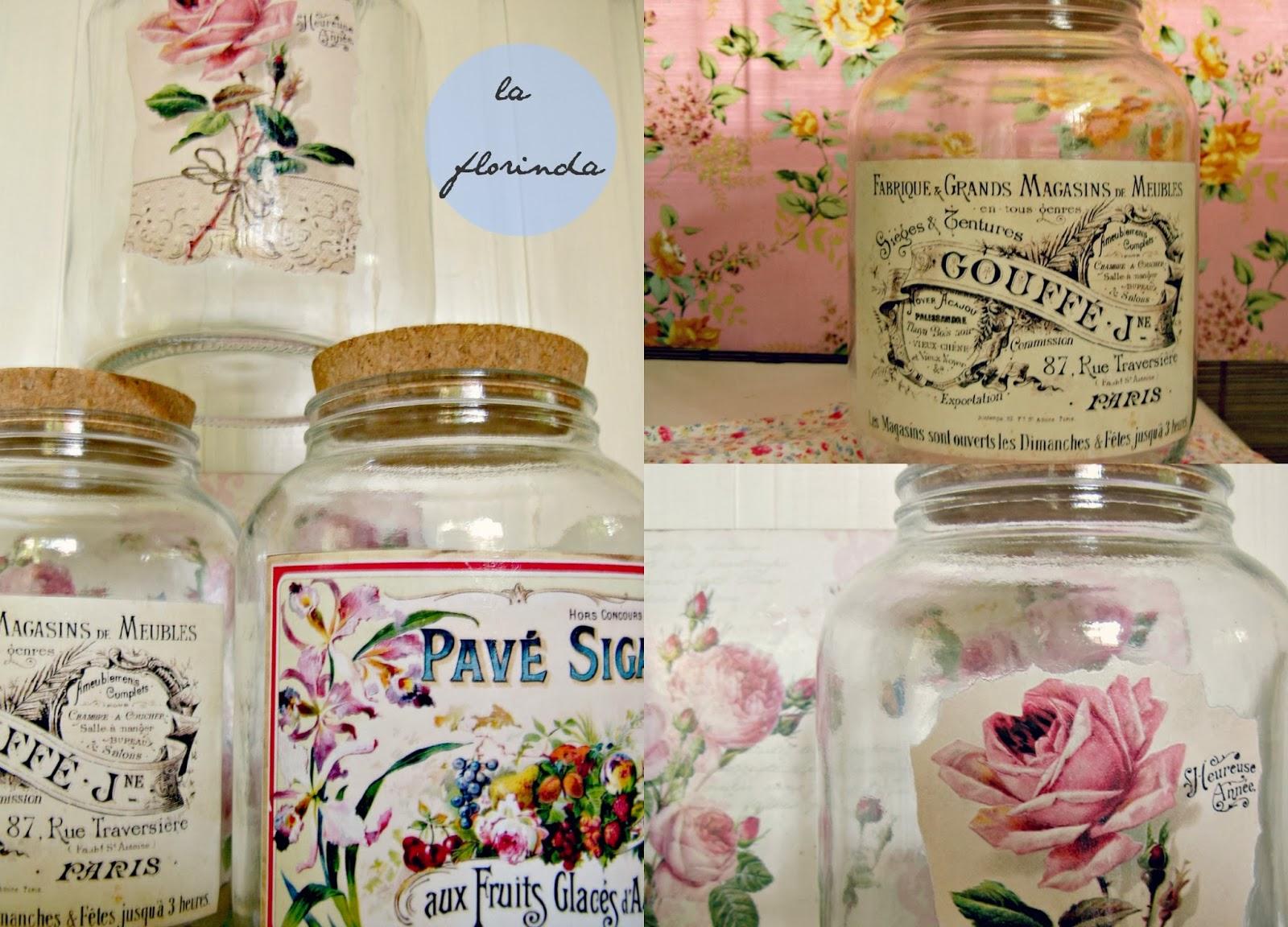 tienda la florinda frascos grandes decorados vintage