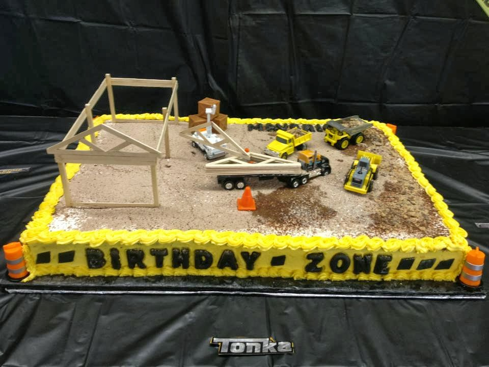 Life and Other Shenanigans: Birthday Zone: Construction Themed Cake