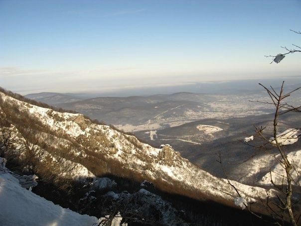 snowscape in croatia countryside