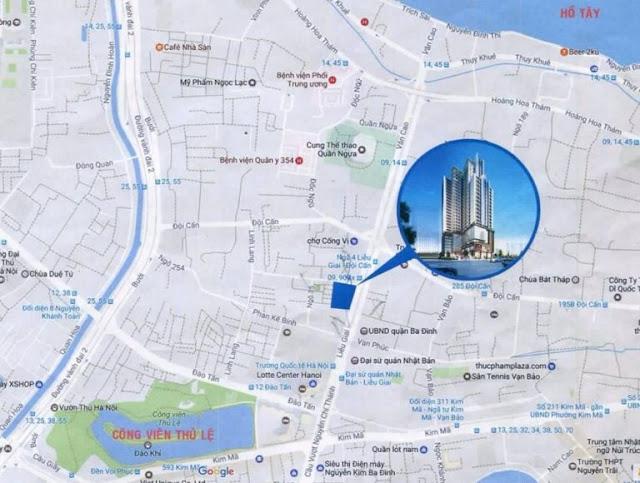 Vị trí đắc địa của Liễu Giai Tower