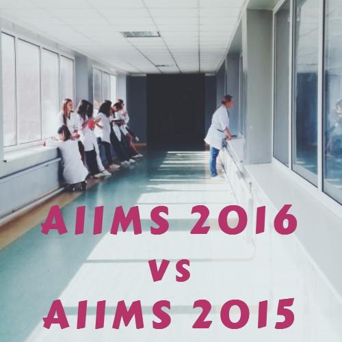 Closing Ranks, AIIMS 2016 vs AIIMS 2015