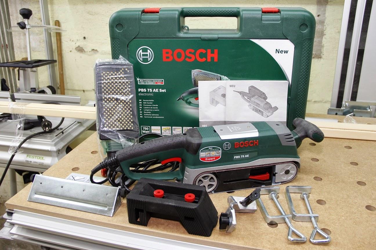 Bosch Bandschleifer PBS 75 AE Set (Schleifband, 2 ...