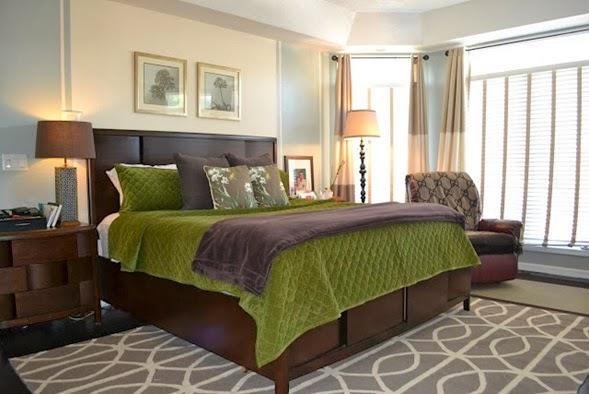Dormitorios en verde marr n y blanco ideas para decorar - Cojines marron chocolate ...