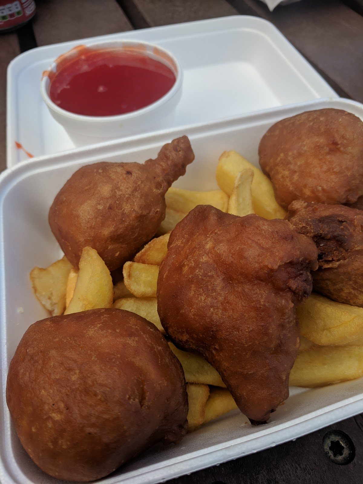 Why you must visit the Fortune Cookies Chinese Van in Morpeth  - sweet and sour chicken balls