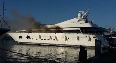 Πυρκαγιά σε θαλαμηγό σκάφος στην Πρέβεζα