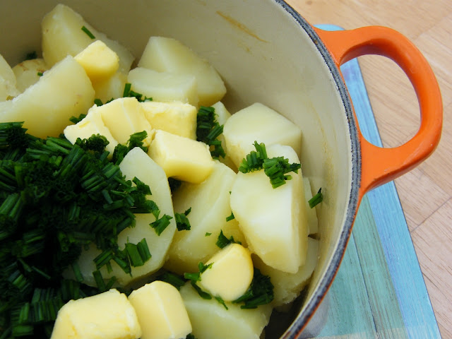 Rumbledethumps or Scottish Potato & Cabbage Pie - Step one
