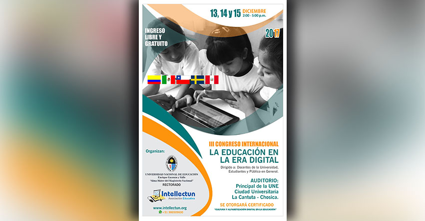 Convocan al III Congreso Internacional «La Educación en la Era Digital» www.intellectun.org