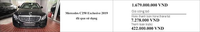Giá xe Mercedes C250 Exclusive 2019 hấp dẫn bất ngờ
