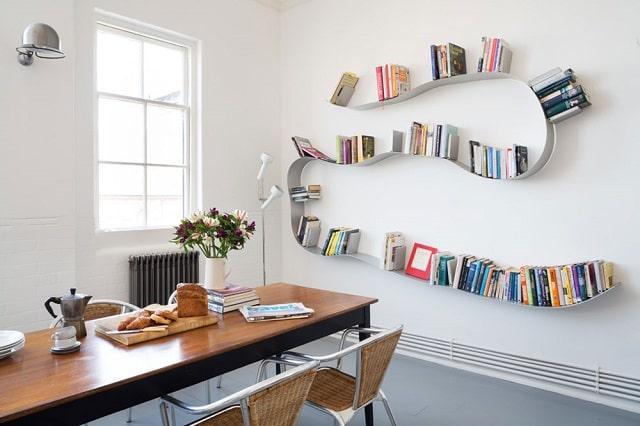 أفكار ديكورات رفوف خشبية للحوائط والجدران