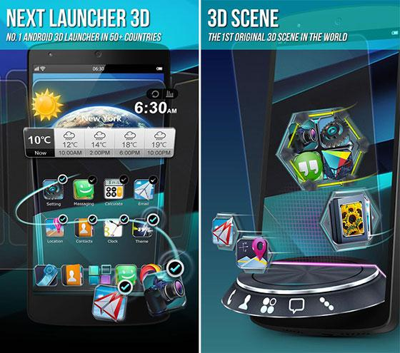 Next Launcher 3D Shell Apk Terbaru