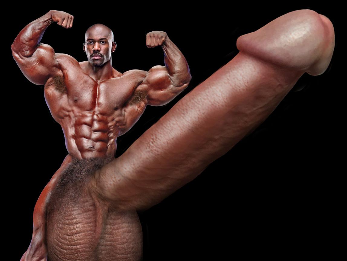Bodybuilders with huge cocks