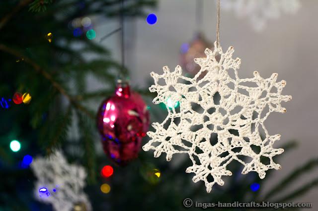 Heegeldatud lumehelbed / Crocheted Snowflakes