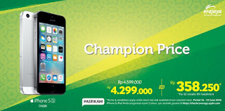 iPhone Champion Price di Erafone (iPhone 5s 16 GB Rp 4.299.000)