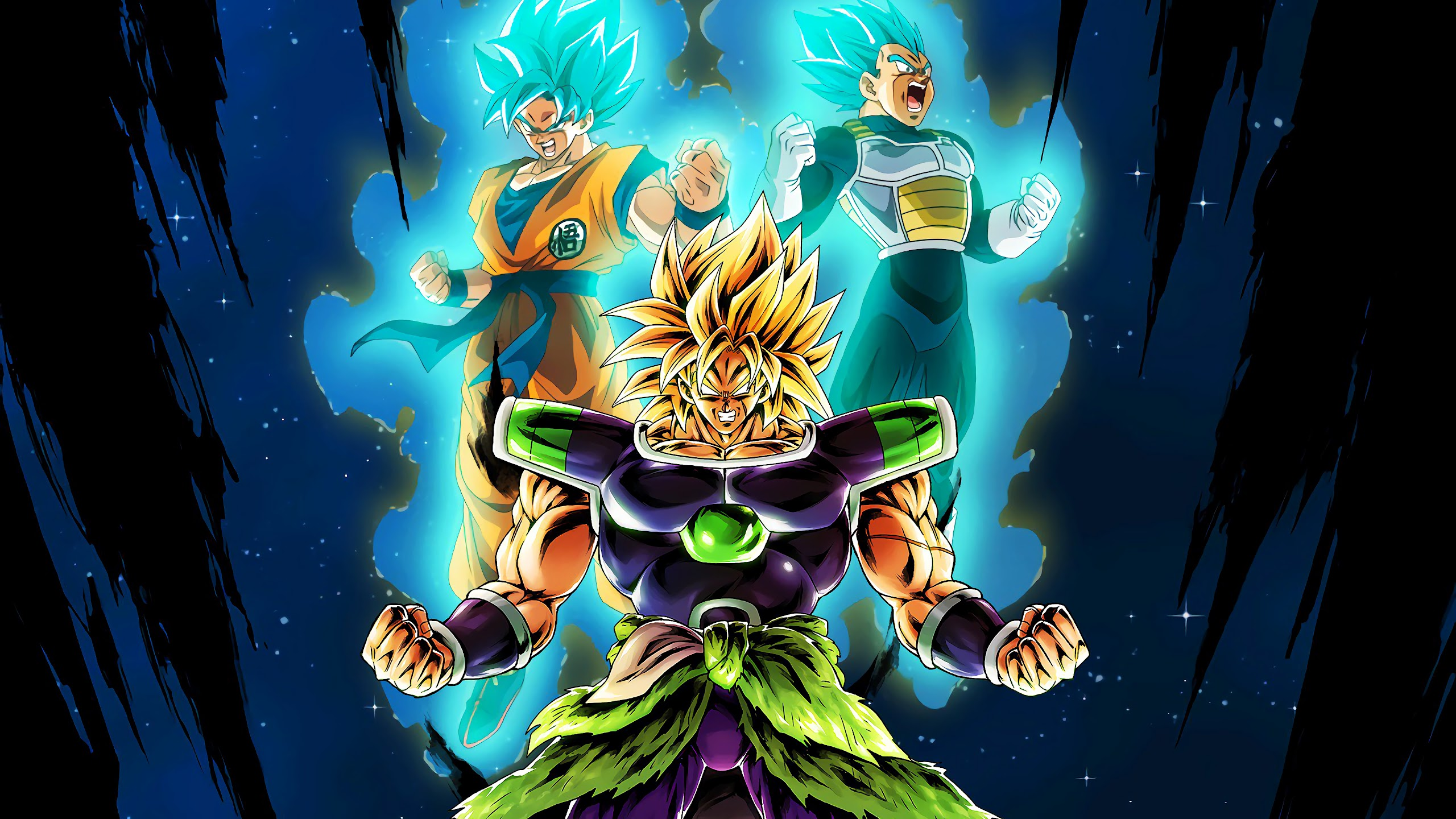 Broly Vegeta Goku Dragon Ball Super Broly 4k Wallpaper 3
