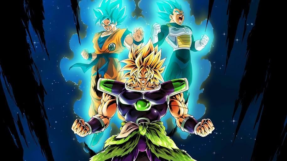 Broly Vegeta Goku Dragon Ball Super Broly 4k Wallpaper 3