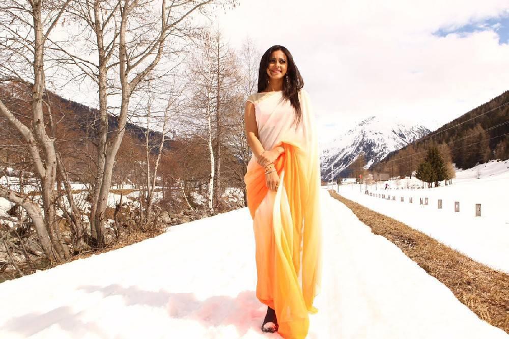 Gorgeous Indian Model Rakul Preet Singh Photos In Orange Saree