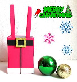 manualidades-navideños-dulcero-pantalón-santa