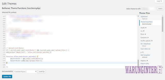 Sxript Agar Hak Akses Kontributor Pada Wordpress Bisa upload Media