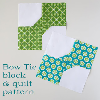 Bow Tie quilt block and tutorial by Andy from A Bright Corner