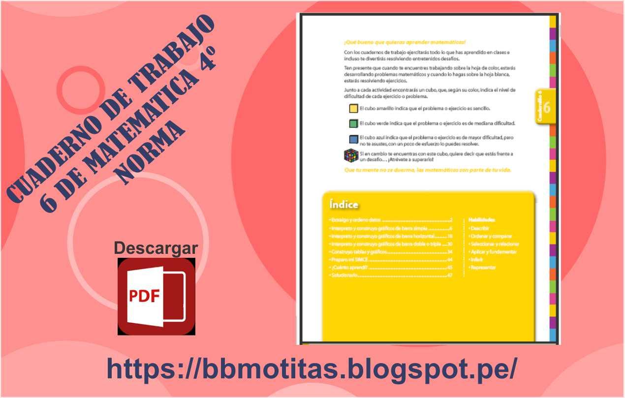 CUADERNO DE TRABAJO 6 DE MATEMATICA 4º - NORMA ~ MATERIALES ...