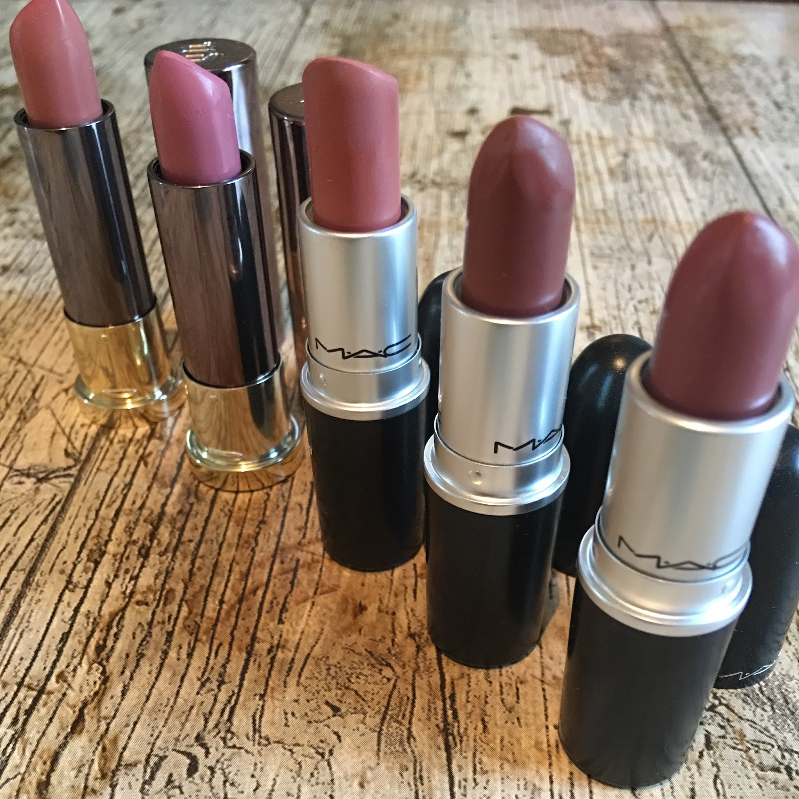 5 current go to lipsticks Mac and Urban decay