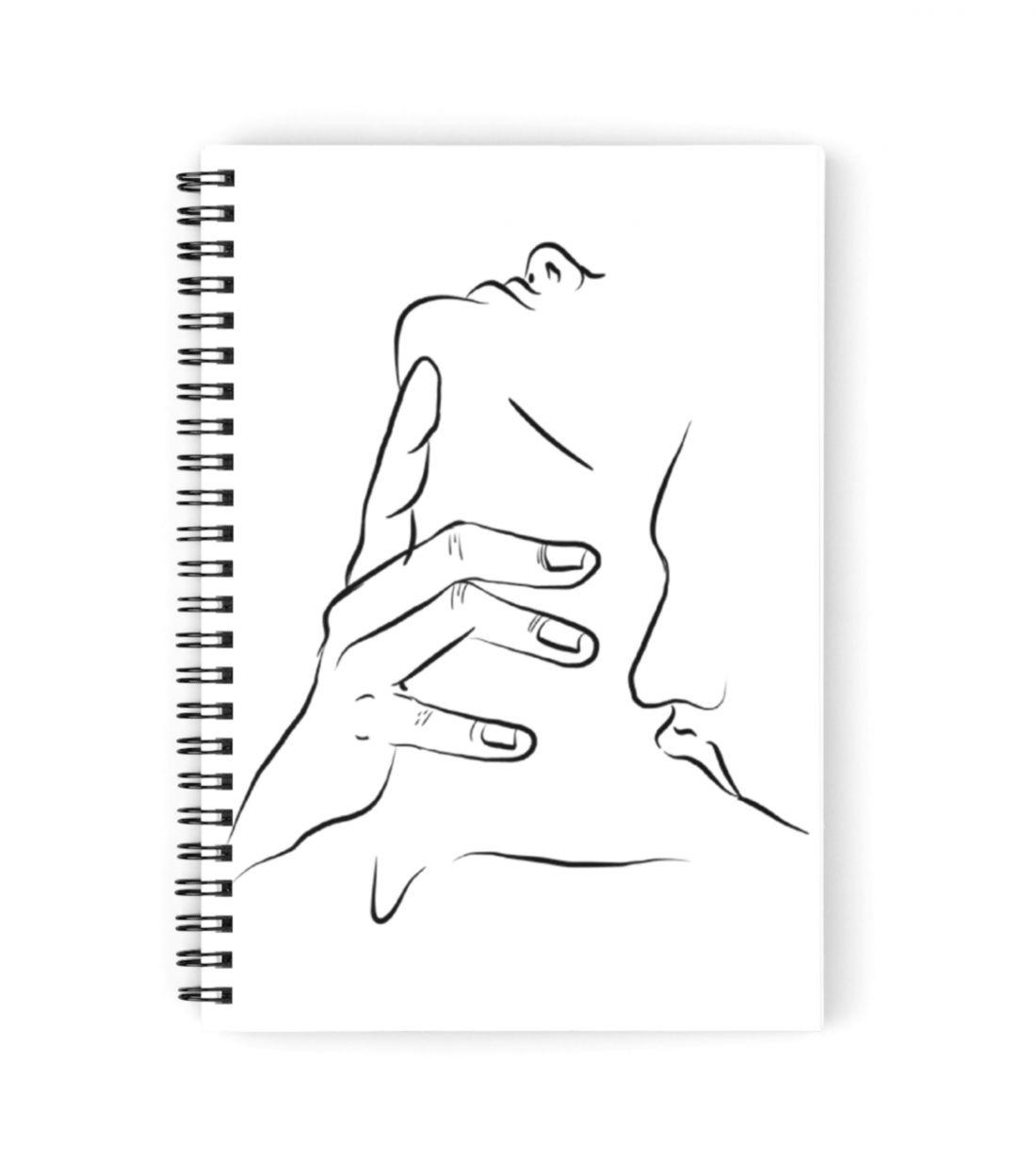 Tumblr type romance sticker spiral notebooks by asher white