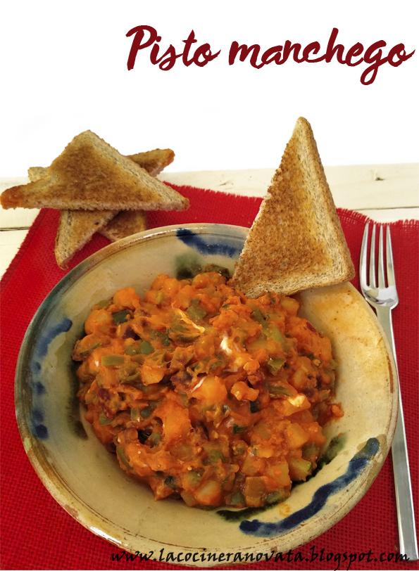 Pisto gallego la cocinera novata receta cocina gastronomia tradicional española casera guiso bajo en calorias tupper pobres patatas calabacin pimientos jamon huevo