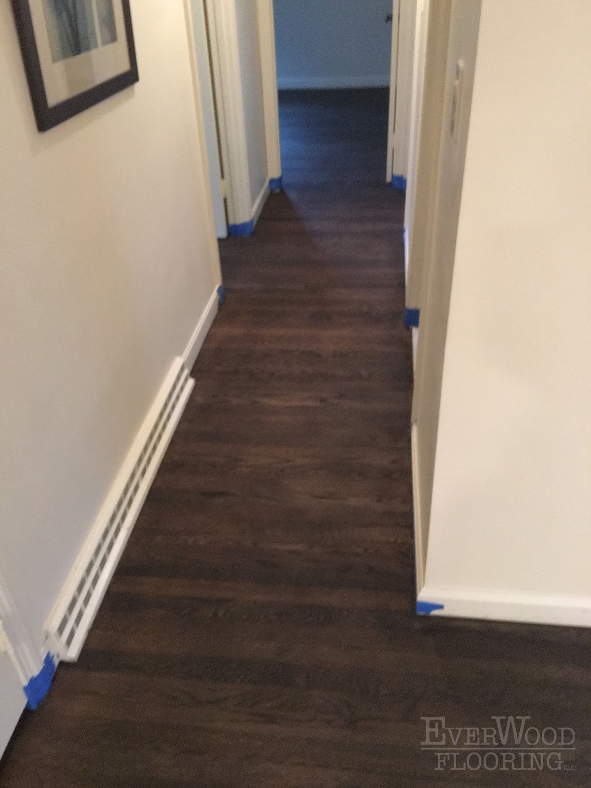 The Homeowner Decided To Go With A Custom Mix Of Jacobean Ebony Red Oak Minwax Stain Completely Transform Their Flooring