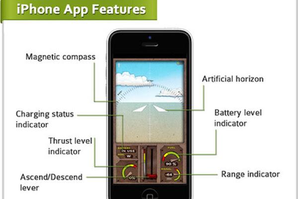 PowerUp 3.0 在 iPhone 上的 App 遙控介面,數位時代翻攝自 PowerUp 官網。