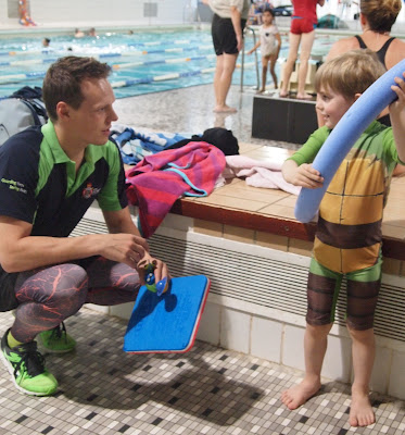 Bert's First Swimming Lesson at Robinson Pool Bedford