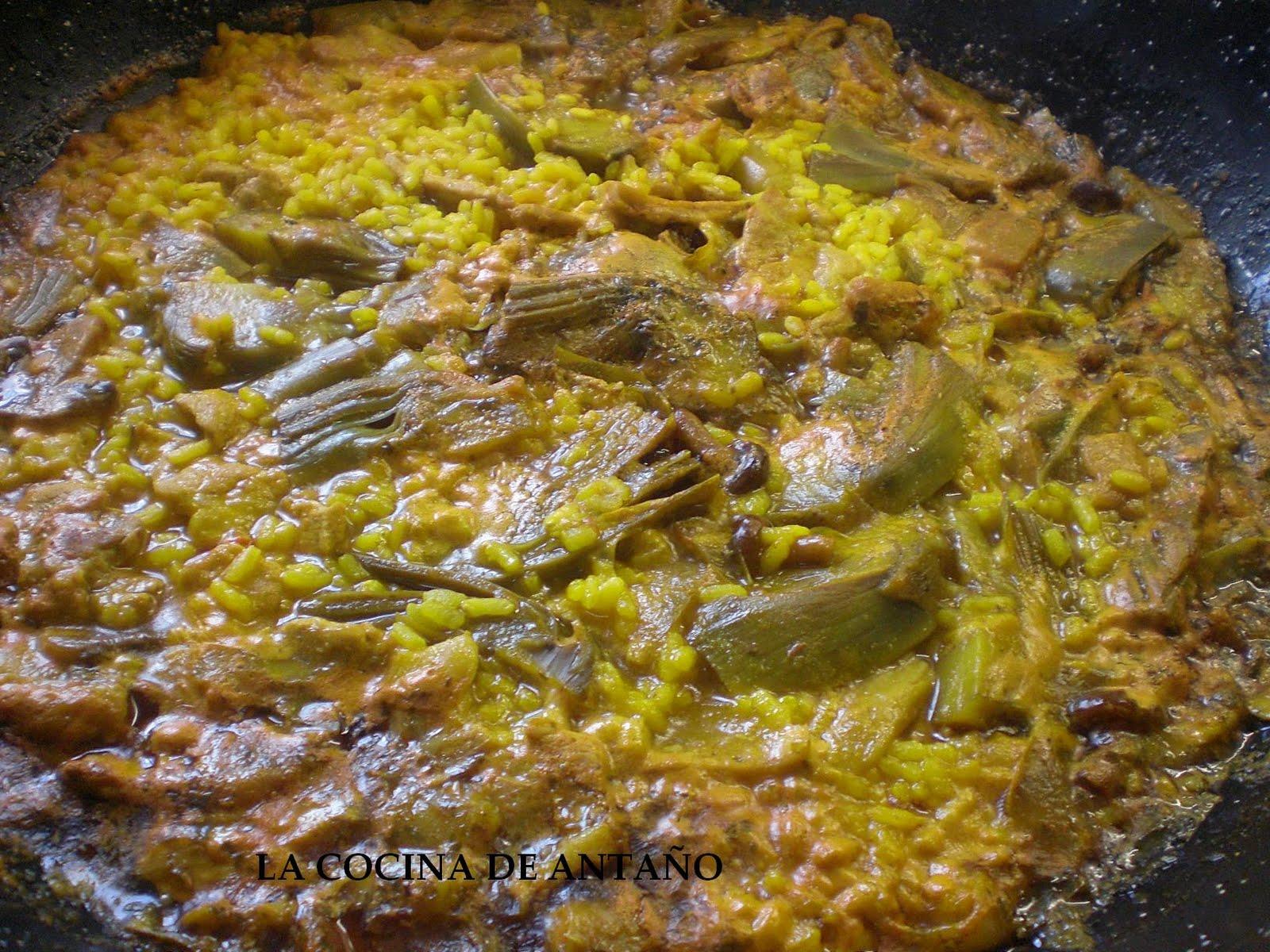 La cocina de anta o arroz meloso con magro alcachofas y - Arroz con alcachofas y jamon ...