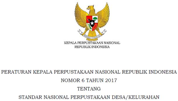 Standar Nasional Perpustakaan Desa - Kelurahan