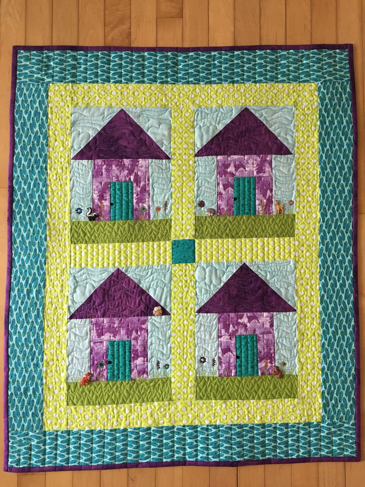 Sewing & Quilt Gallery: New England Cabins (formerly Bahama Beach Huts)
