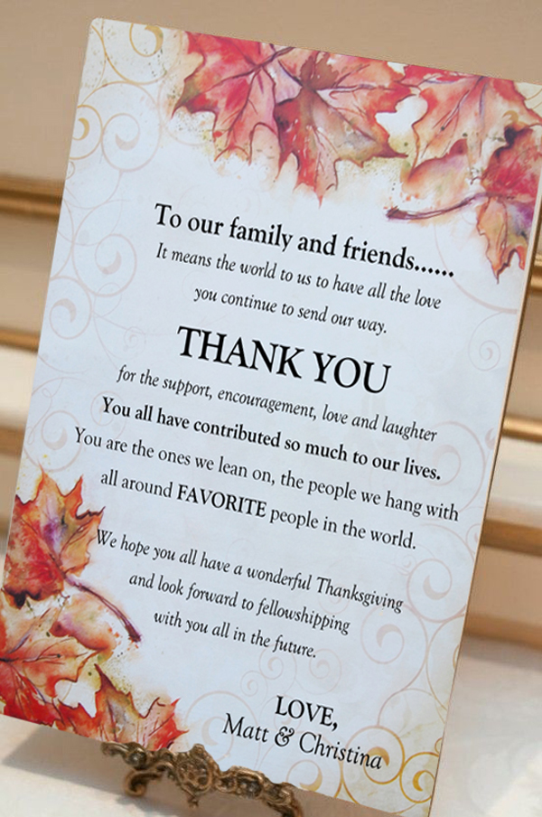 Thank you letter using Vintage Fall Letter Paper from Paper Direct designed by Noami Foster.
