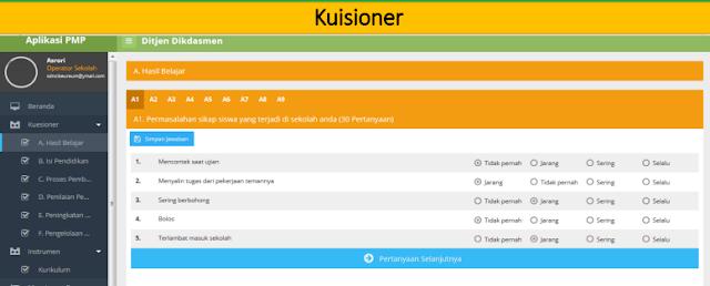 gambar kuesioner aplikasi PMP