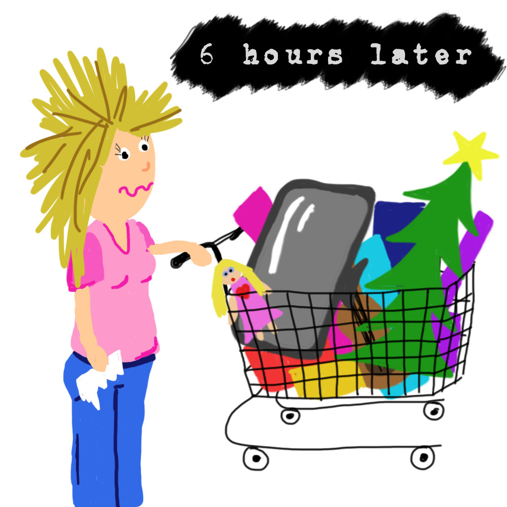 Hours and perhaps some bumps and bruises later you end up with a whole  shopping cart full of stuff that you never really needed in the first place. 51c373b88f62d