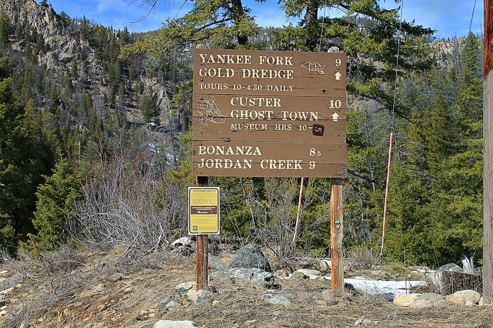 yankee fork Custer and bonanza up the yankee fork, near stanley is a must see if you want to check out idaho ghost towns.