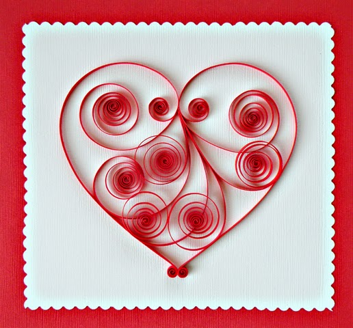 Paper Quilling Card For Valentine S Day Crafts And Arts Ideas