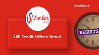 UBI Credit Officer Result