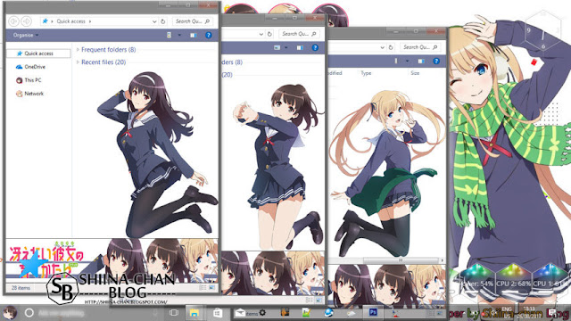 Windows 10 Ver. 1607 Theme Saekano by Enji Riz