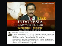 ILC Bahas Habib Rizieq Tapi Gagal Tayang, Netizen: Ini Indonesia Rasa Korea
