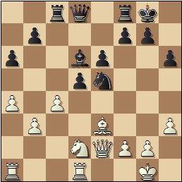 Partida de ajedrez Rosa Borao vs. Sofía Ruiz, 1951, posición después de 18…Tc8