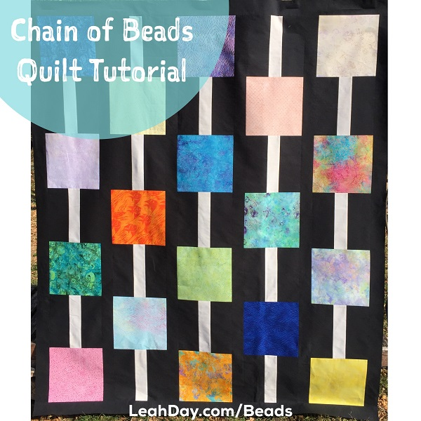 Chain of Beads free beginner quilt pattern