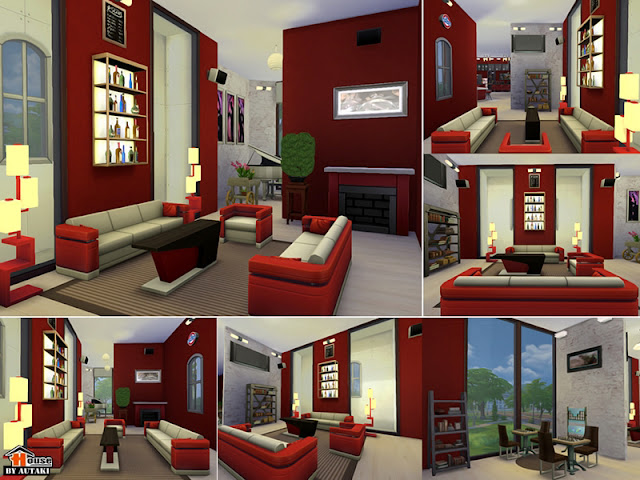 Red/White Interior Design