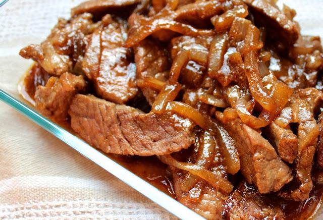 Тушёное мясо с овощами в мультиварке