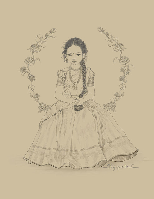 Pencil, Digital Drawing, Prints available, Indian Art by Kerala artist Biju P Mathew