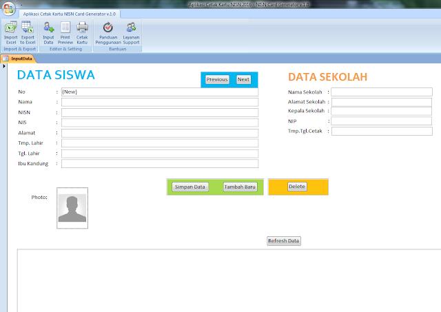Download Aplikasi Cetak Kartu NISN Gaya Operator Sekolah Dot Com