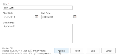 SharePoint Content Approval Status on Edit form