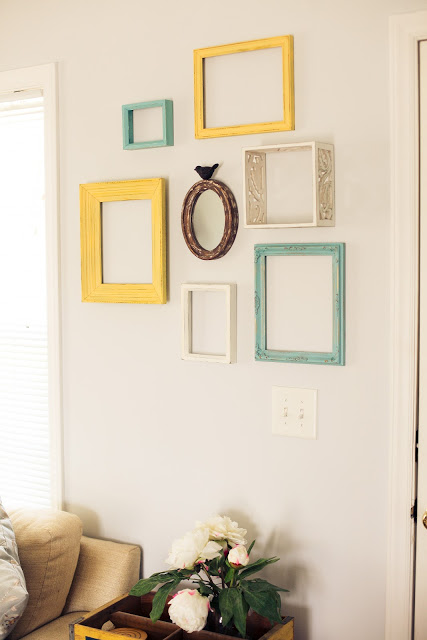 Colorful Picture Frame Collage Wall