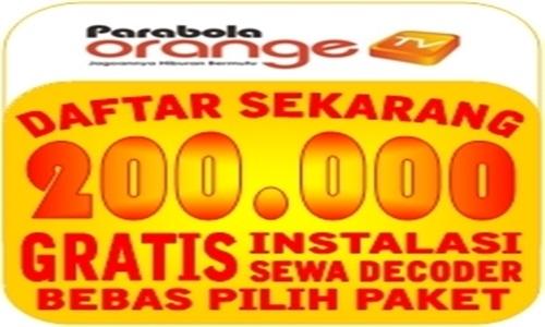 Pasang Orange TV Postpaid Cuma Bayar Rp. 200.000